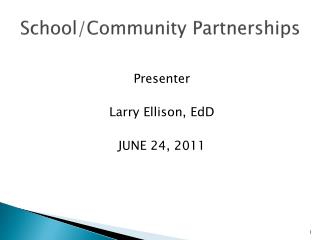School/Community Partnerships