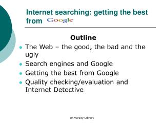 Internet searching: getting the best from
