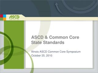 ASCD & Common Core State Standards