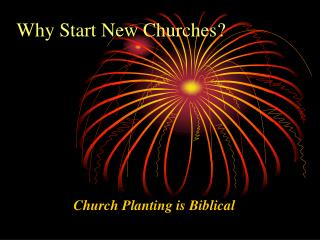 Why Start New Churches?