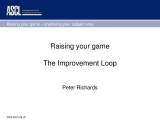 Raising your game The Improvement Loop