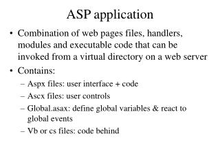 ASP application