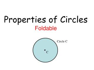 Properties of Circles Foldable