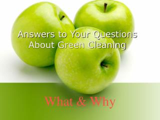 Answers to Your Questions About Green Cleaning