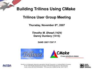 Building Trilinos Using CMake