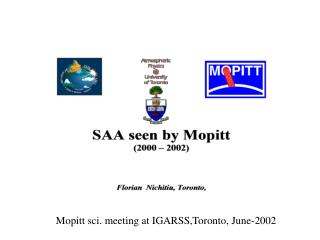 Mopitt sci. meeting at IGARSS,Toronto, June-2002