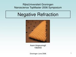 Negative Refraction
