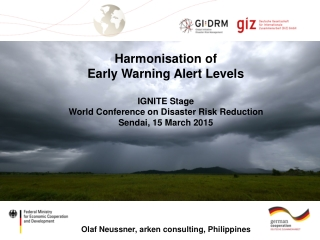 An Orientation  to Disaster Risk Reduction
