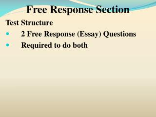 Free Response Section