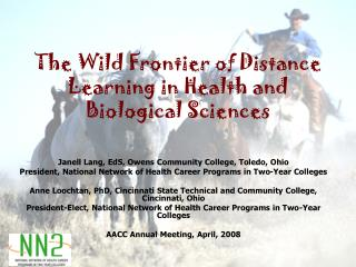 The Wild Frontier of Distance Learning in Health and Biological Sciences