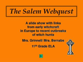 The Salem Webquest