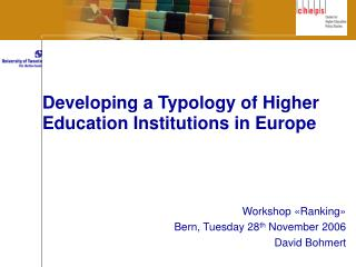 Developing a Typology of Higher Education Institutions in Europe