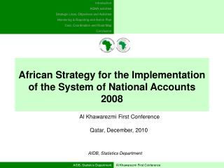 AfDB, Statistics Department