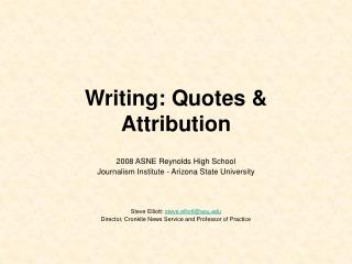 Writing: Quotes & Attribution