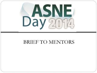 BRIEF TO MENTORS