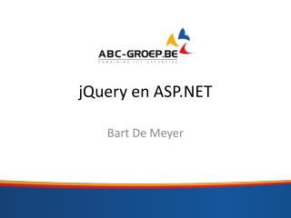 j Query  en ASP.NET