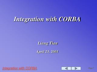 Integration with CORBA