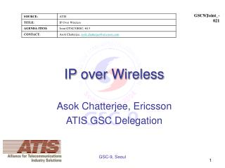IP over Wireless