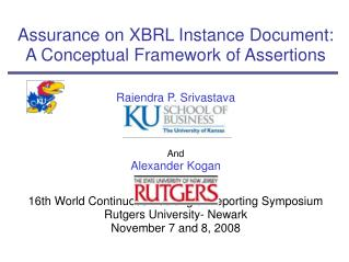 Assurance on XBRL Instance Document: A Conceptual Framework of Assertions