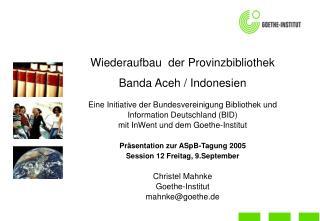 Bundesvereinigung Bibliothek und Information Deutschland (BID):