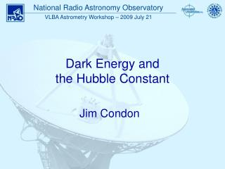 Dark Energy and  the Hubble Constant