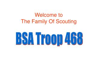 Welcome to The Family Of Scouting