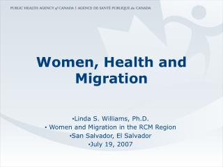 Women, Health and Migration