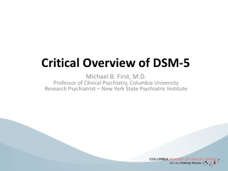 Critical Overview of DSM-5