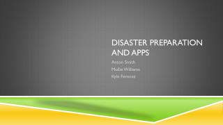 Disaster Preparation and Apps