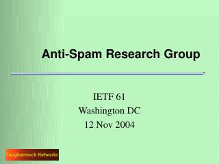 Anti-Spam Research Group