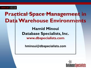 Practical Space Management in Data Warehouse Environments