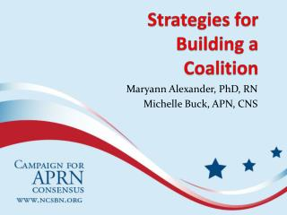 Strategies for Building a Coalition