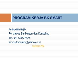 PROGRAM KERJA BK SMART