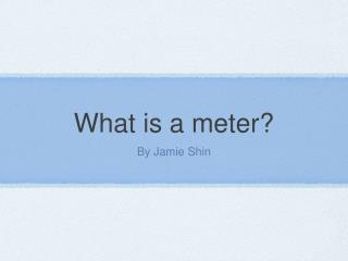 What is a meter?