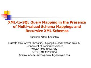 XML-to-SQL Query Mapping in the Presence of Multi-valued Schema Mappings and Recursive XML Schemas