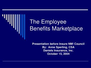 The Employee Benefits Marketplace