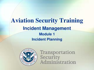 Aviation Security Training