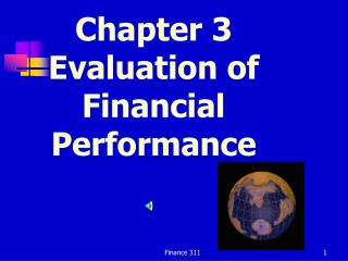 Chapter 3 Evaluation of Financial Performance