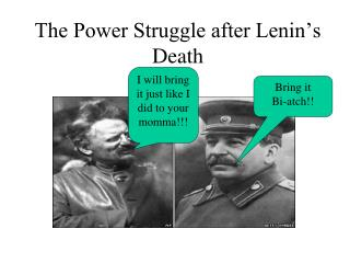 The Power Struggle after Lenin's Death