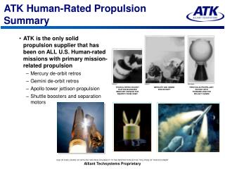 ATK Human-Rated Propulsion Summary