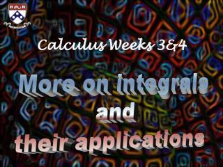 Calculus Weeks 3&4