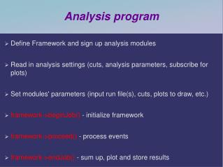 Analysis program