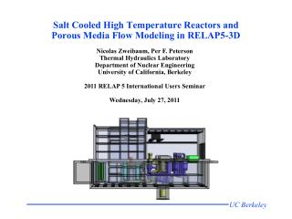 Salt Cooled High Temperature Reactors and Porous Media Flow Modeling in RELAP5-3D