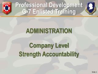 Professional Development G-7 Enlisted Training