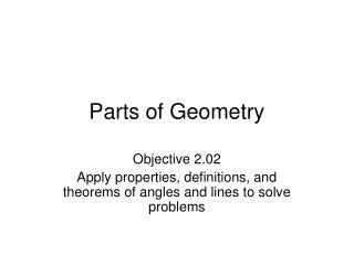 Parts of Geometry