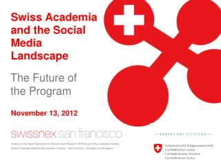 Swiss Academia and the Social Media Landscape
