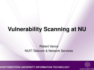 Vulnerability Scanning at NU
