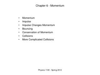 Chapter 6 - Momentum