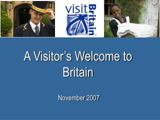A Visitor's Welcome to Britain