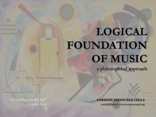 LOGICAL  FOUNDATION  OF MUSIC a philosophical approach